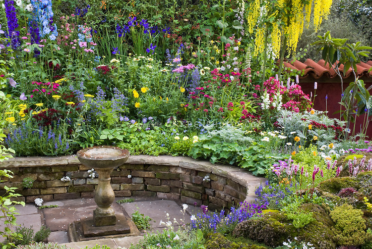 Bird Baths Flower Garden Ideas