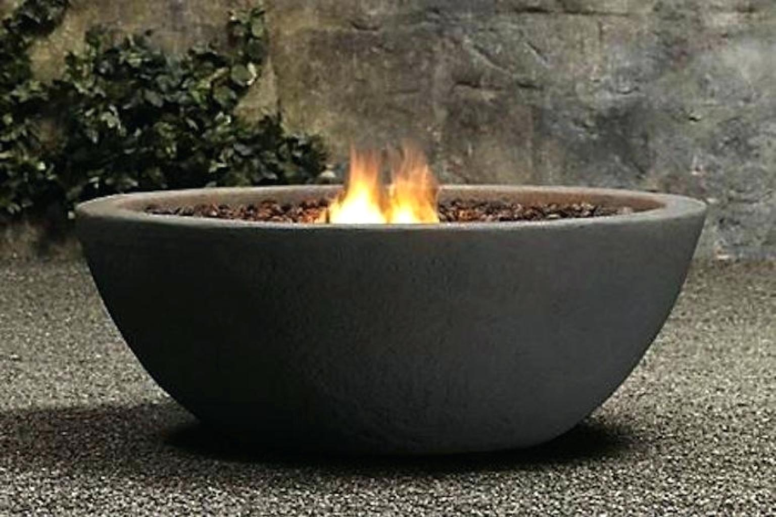 Bowl Pit Fireplace Design Idea