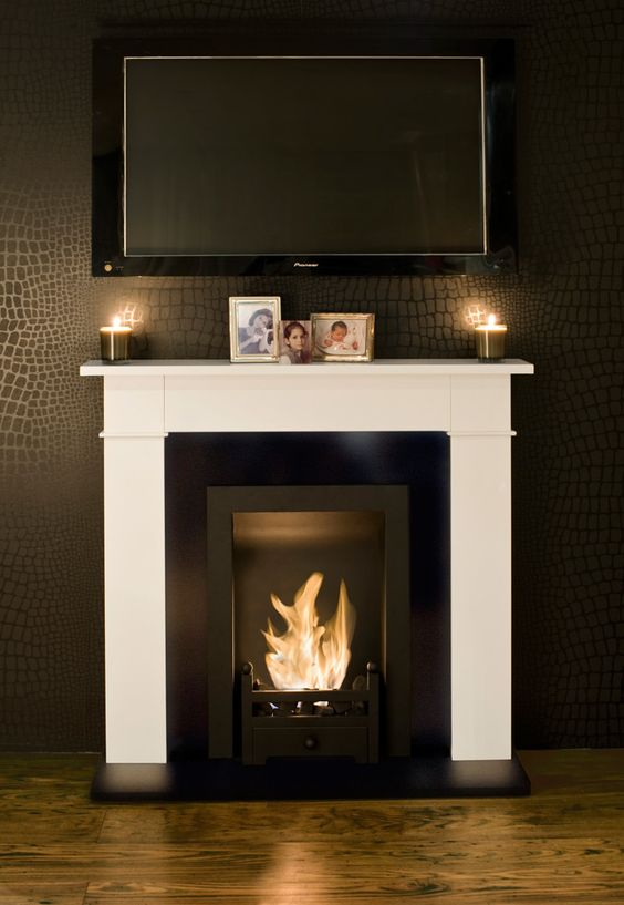 Classically Modern Fireplace