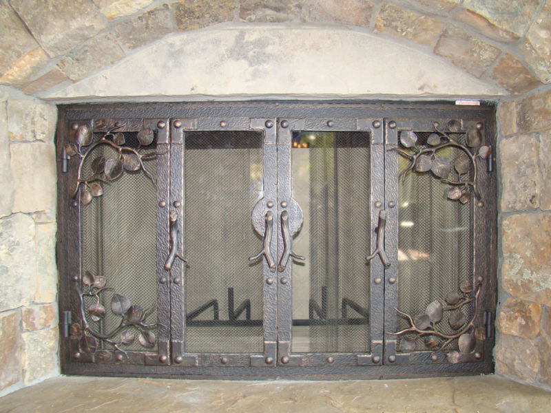 Custom Door To Custom Fireplace