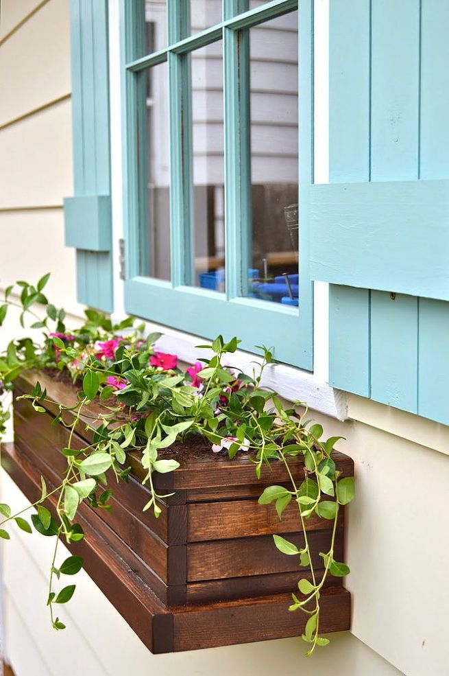 Hanging Flower Boxes In The Window