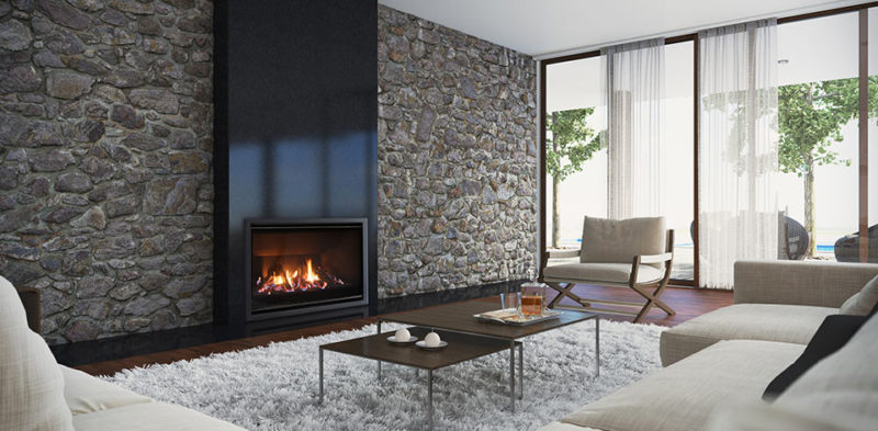 Indoor Modern Gas Fireplace
