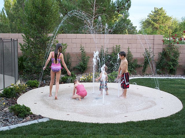 Kids Splash Pad For Backyard