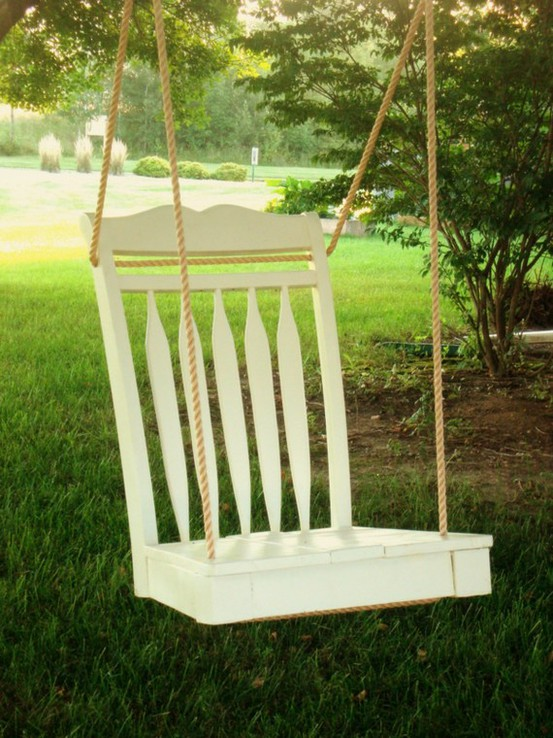 Old Furniture Swing For Backyard