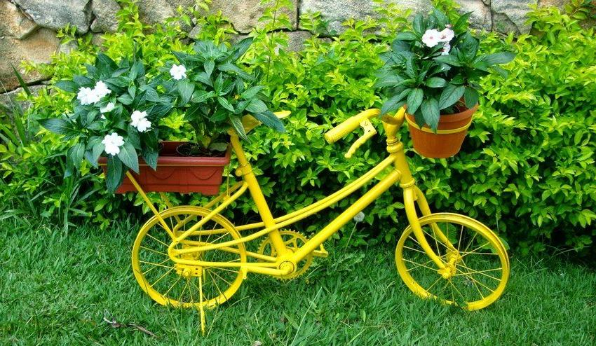 Old bike, painted in a bright color