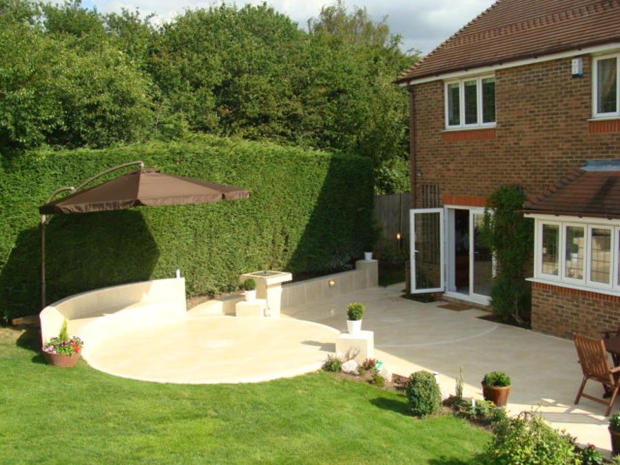 landscaping ideas with patio