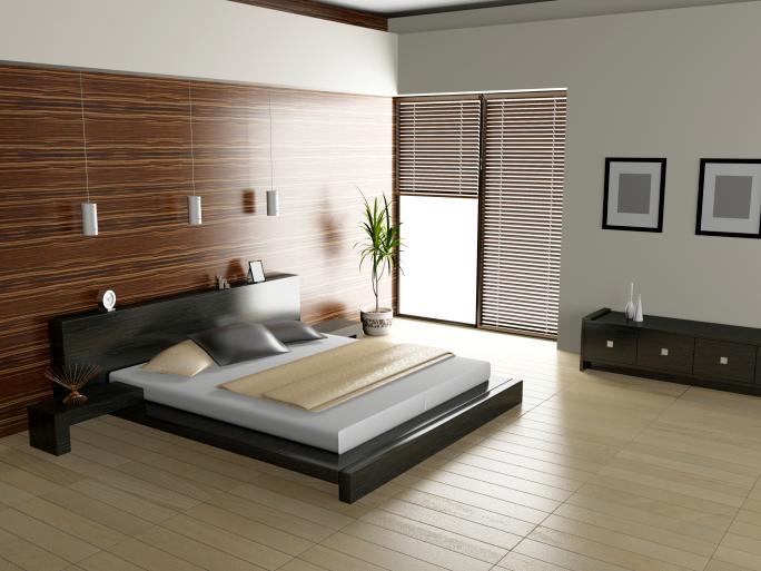 sleek-modern-bedroom-with-light-wood-floor