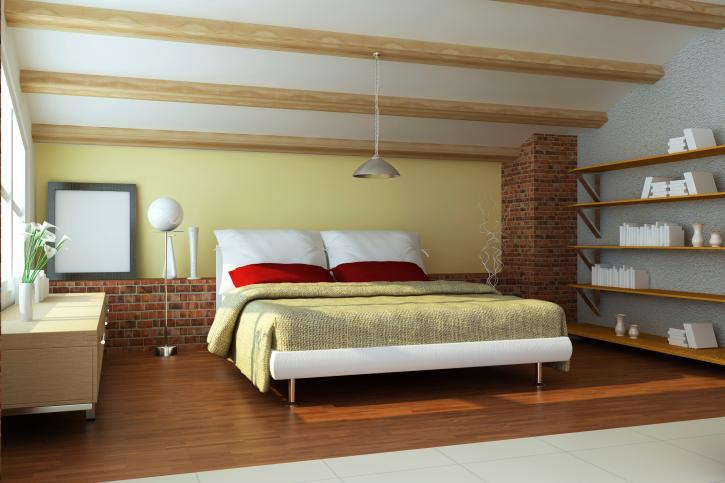 sleek-modern-bedroom-with-wooden-beams
