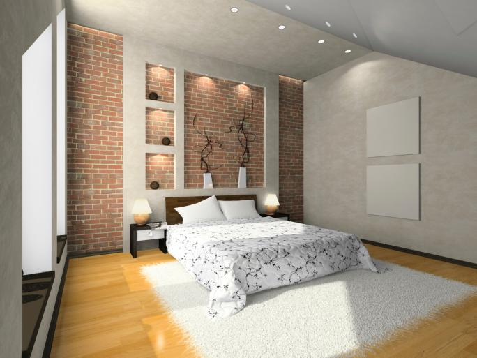small-bedroom-with-brick-wall