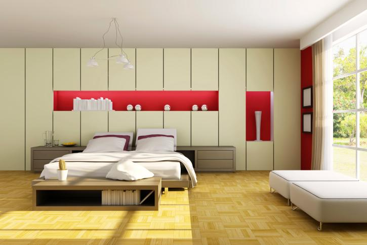 white-and-red-modern-bedroom