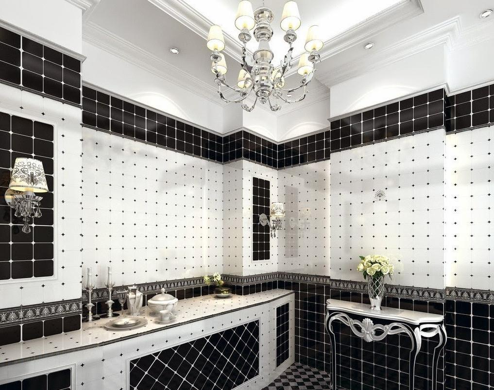 Black and White Bathrooms