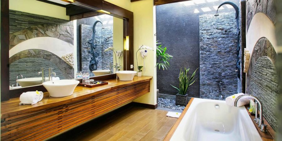 Serene Natural Bathroom
