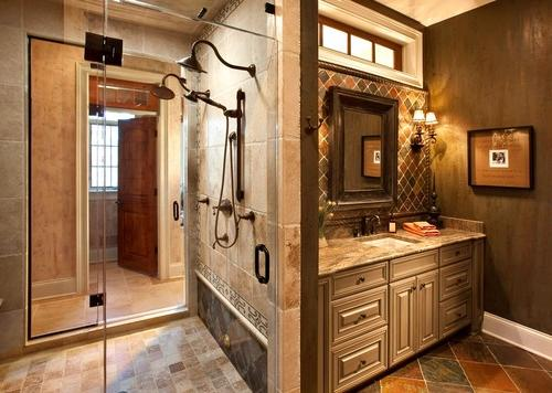 Tuscan Bathroom Design
