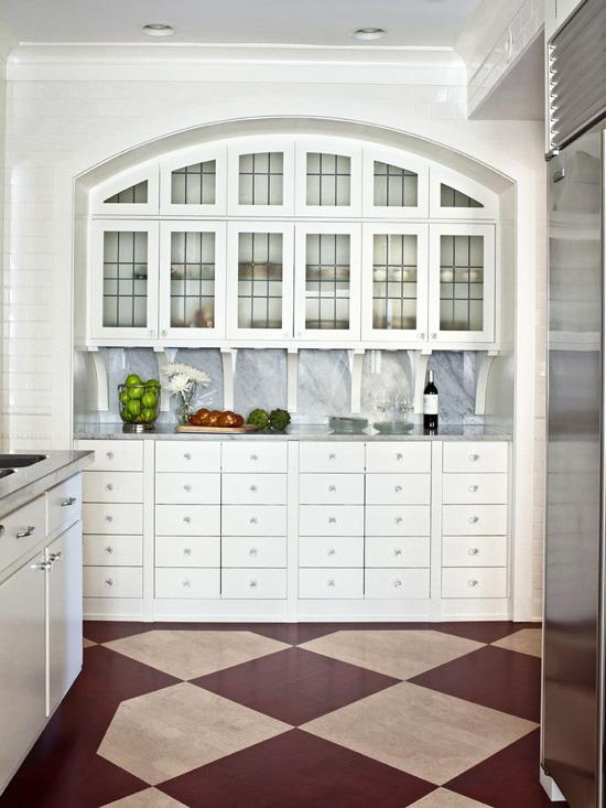 White Kitchen Hutch
