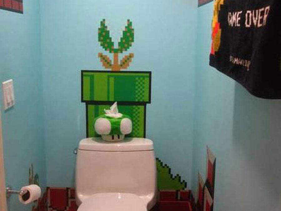 Mario In The Loo