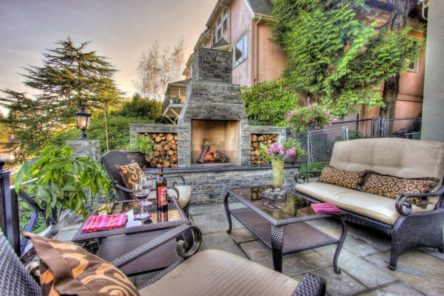 Outdoor Seating with Rustic Finish