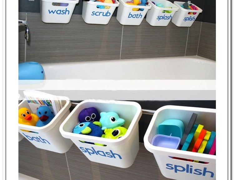 Bathroom toy storage ideas