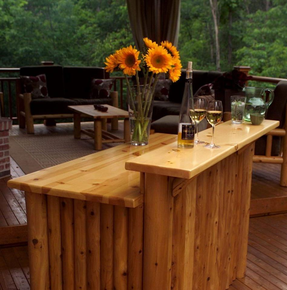 47 best commercial outdoor furniture interiorsherpa for Wood outdoor bar ideas