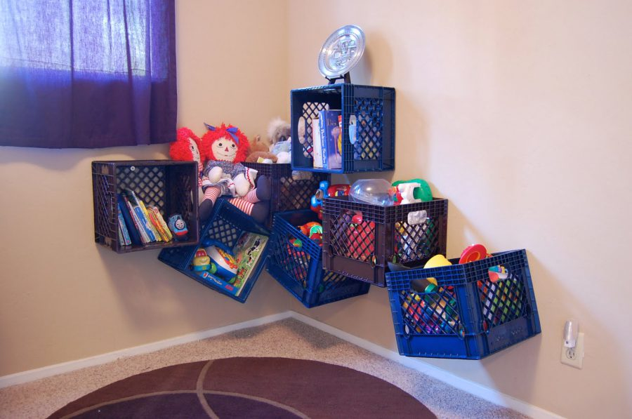 Crate toy storage ideas