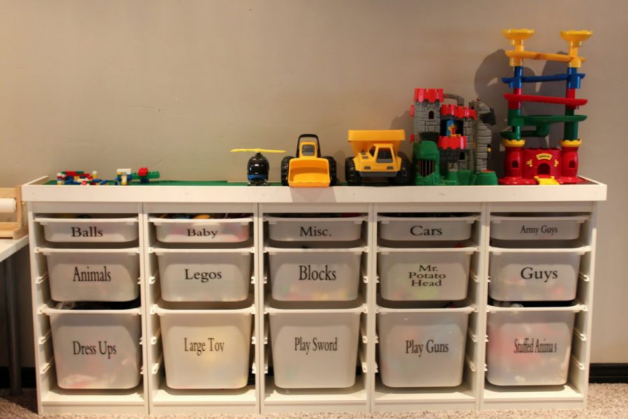 Living room toy storage ideas