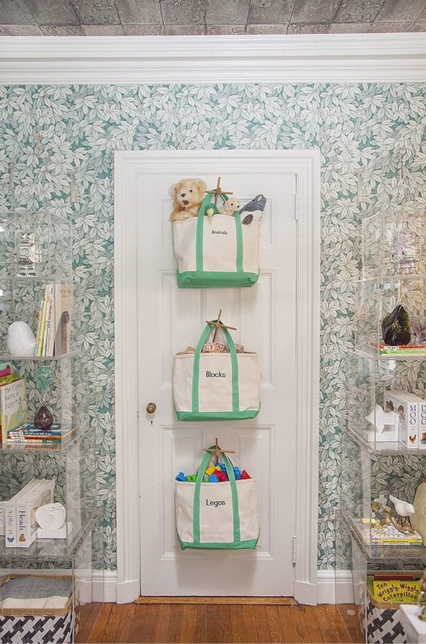 over the door toy storage ideas