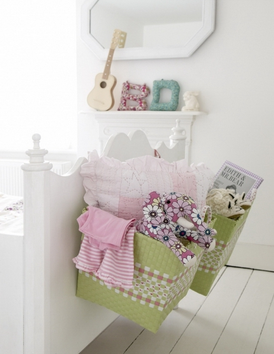 Toy storage ideas for girl's bedrooms