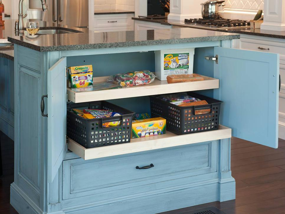Toy storage ideas with cabinets and baskets