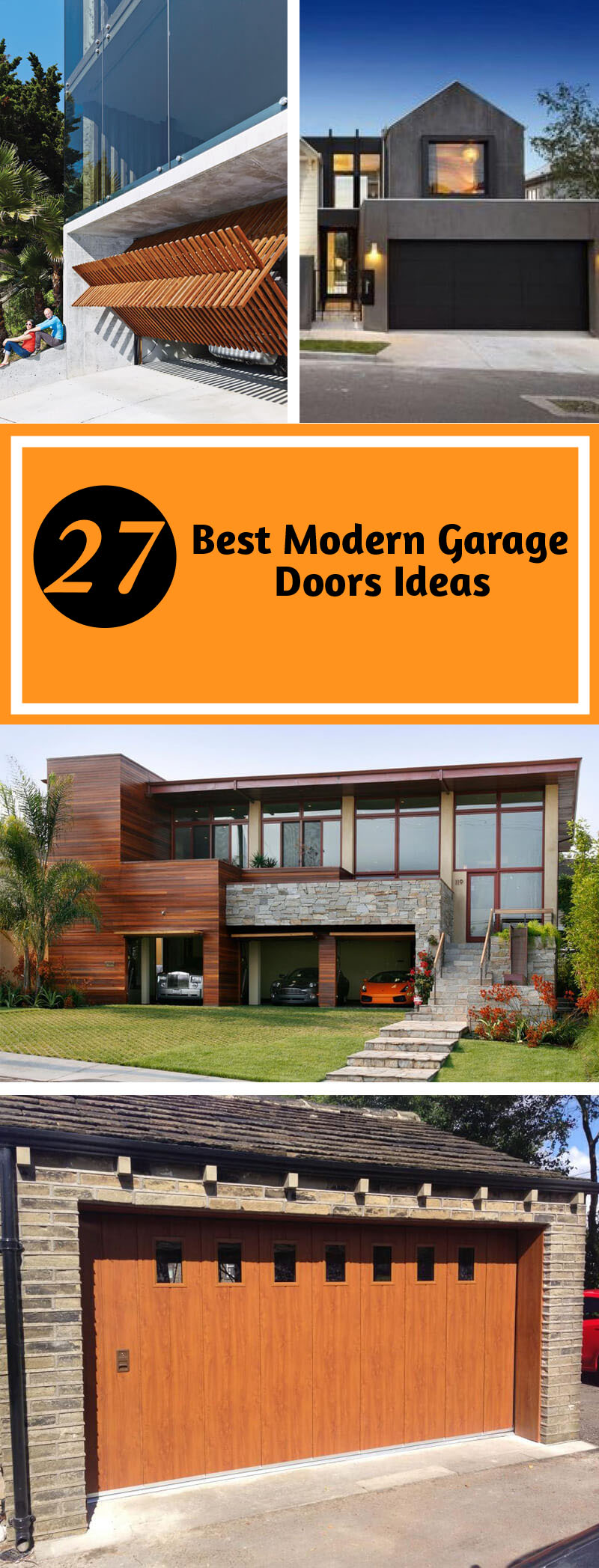 27 Best Modern Garage Doors Ideas and Designs For Your Inspiration
