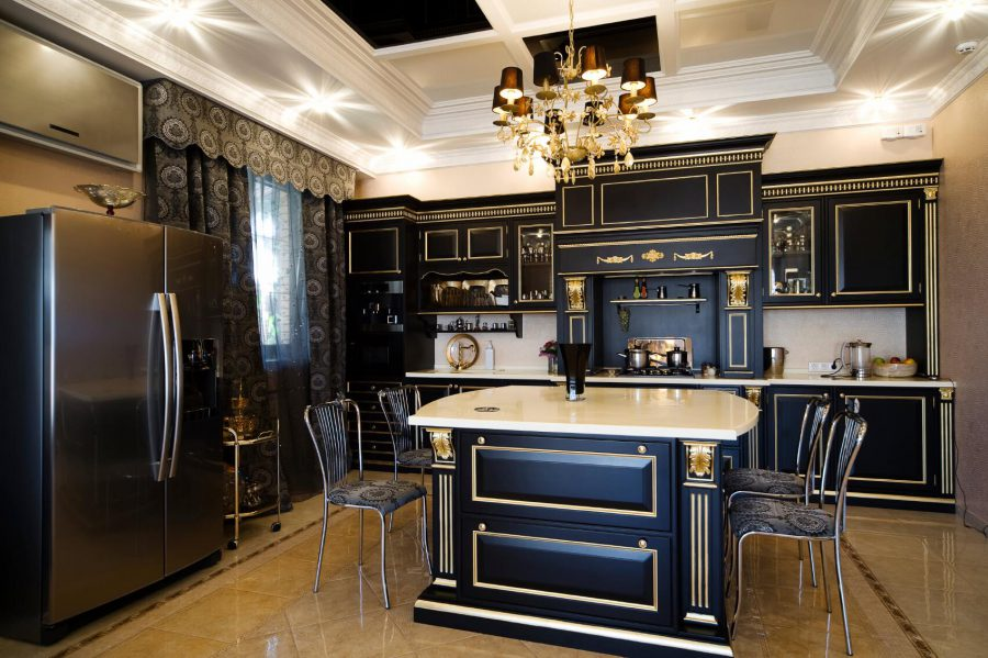 Black Kitchen Remodeling Ideas.