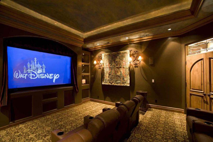 50 creative home theater design ideas interiorsherpa. Black Bedroom Furniture Sets. Home Design Ideas