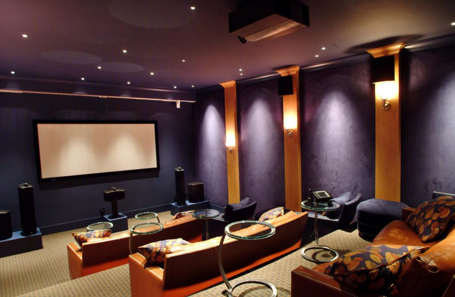 50 creative home theater design ideas interiorsherpa - Best paint color for home theater ...