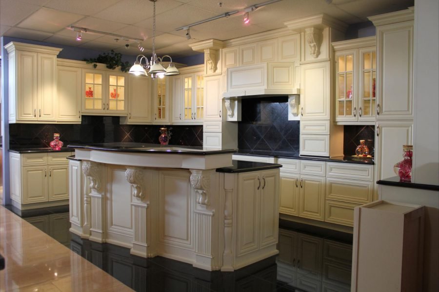 Kitchen Cabinet Refacing With Chandelier