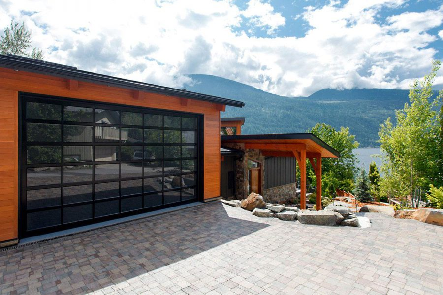 Modern Garage Doors Made From Glass