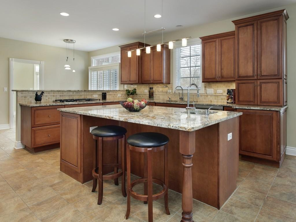 Modern Kitchen Cabinet With Granite Refacing