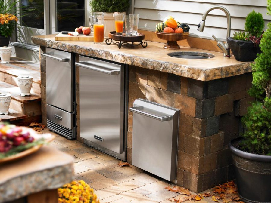 Outdoor Kitchen Cabinet With Regrigerator