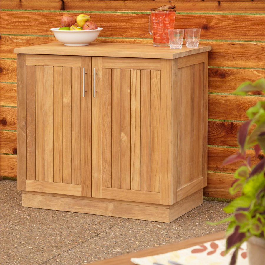 Outdoor Wood Cabinets: 26 Mindblowing Outdoor Kitchen Cabinet Ideas