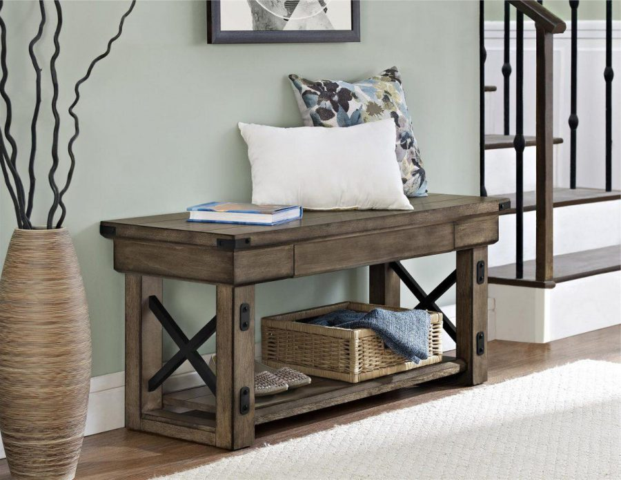 Rustic-Entryway-Benches-Decorating