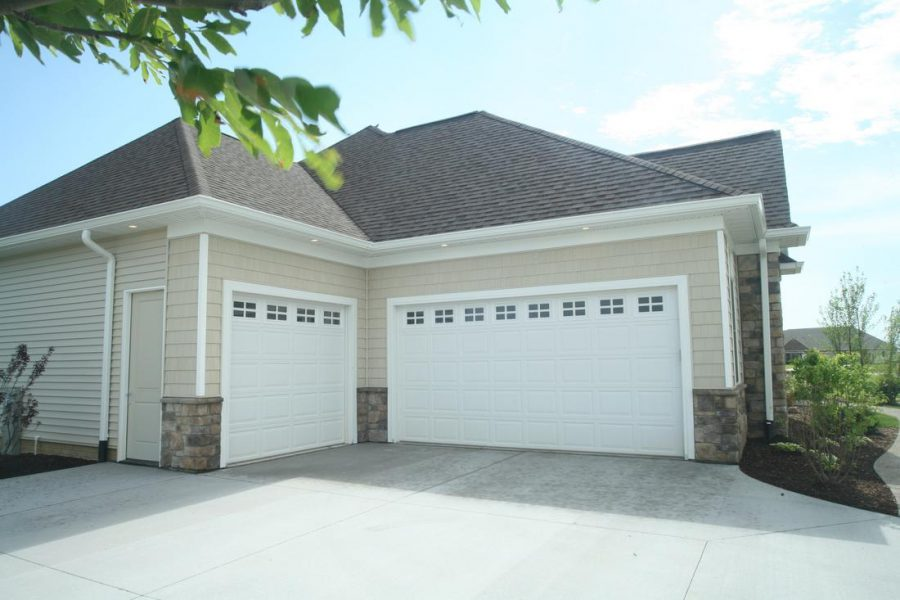 Solid White Garage Doors