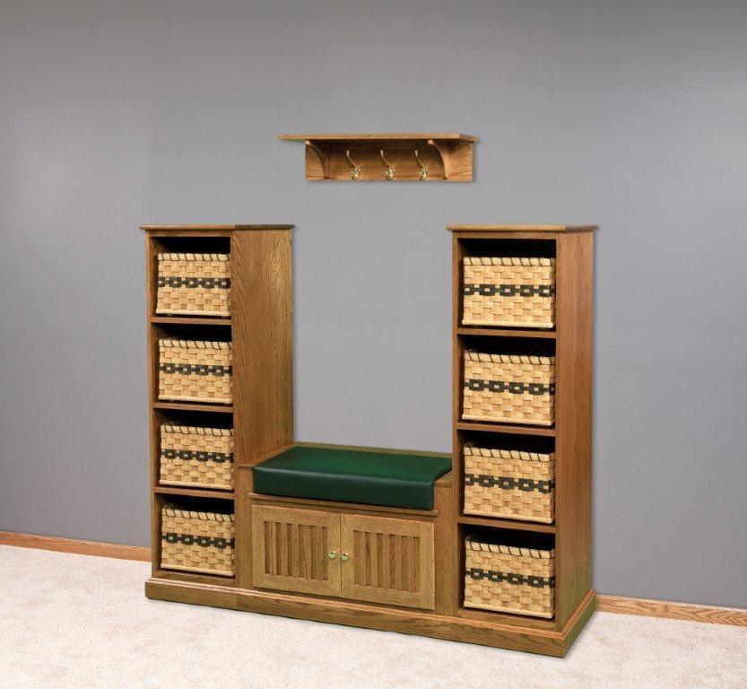 Solid Wood Entryway Storage Bench Shoe Storage Bench With