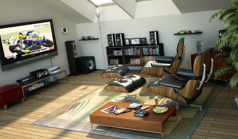 ultra modern media room design ideas