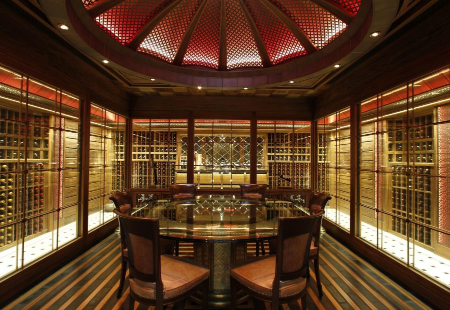 Wine Cellar Design With Dining Sets