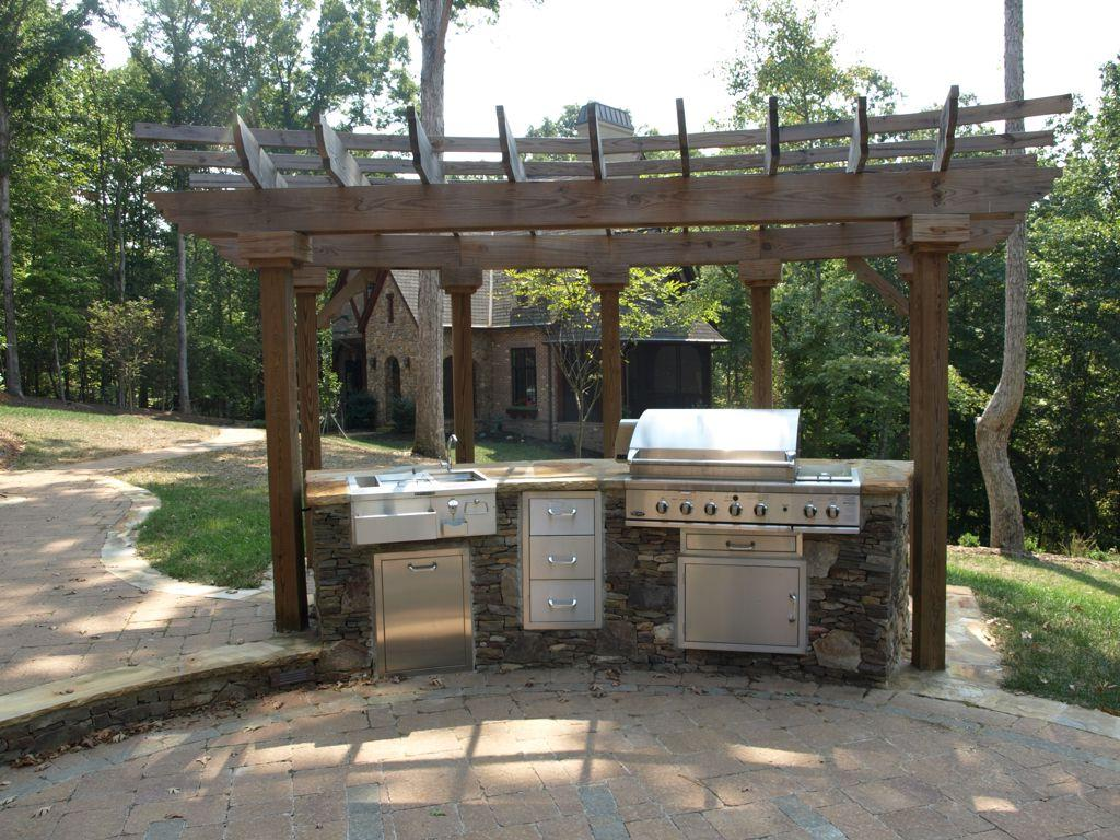 vintage outdoor kitchen cabinet
