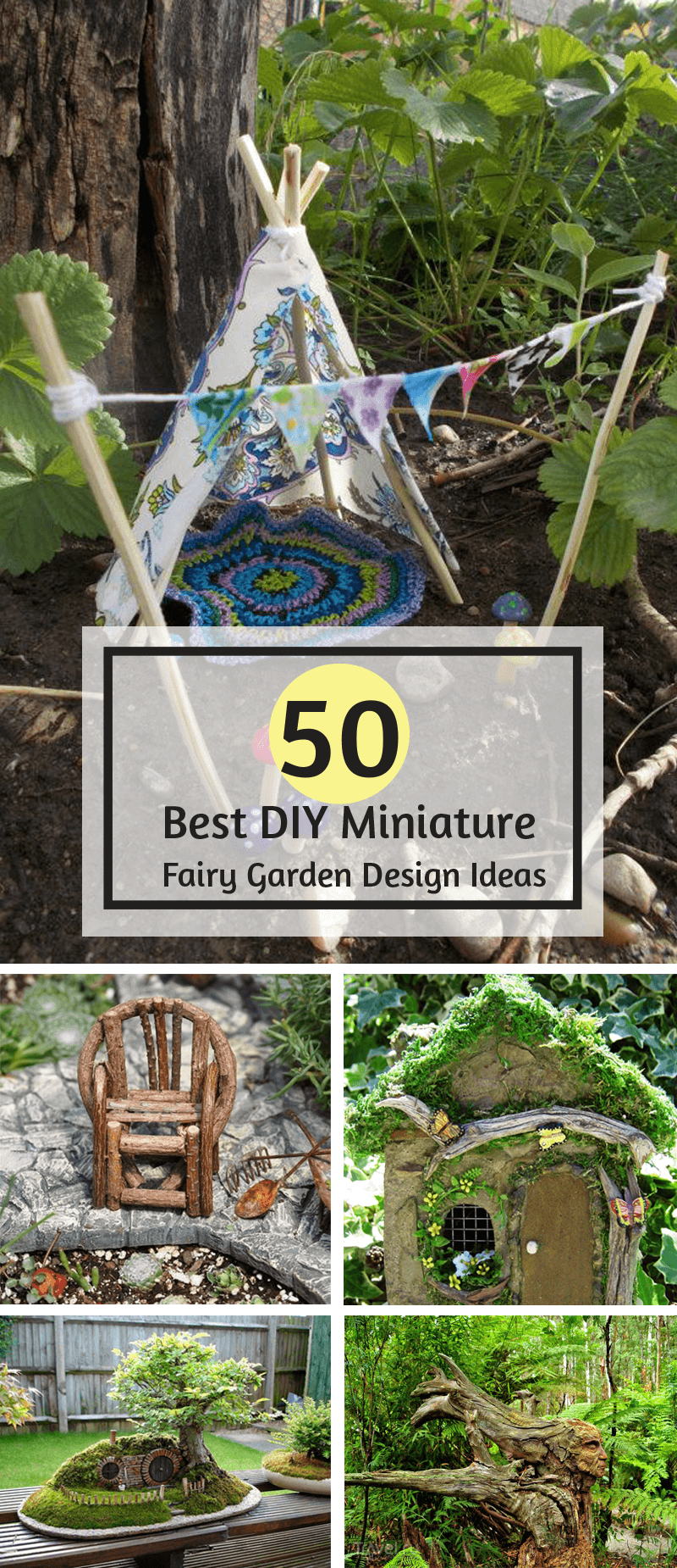 50 diy miniature fairy garden design ideas interiorsherpa for Fairy garden decorating ideas