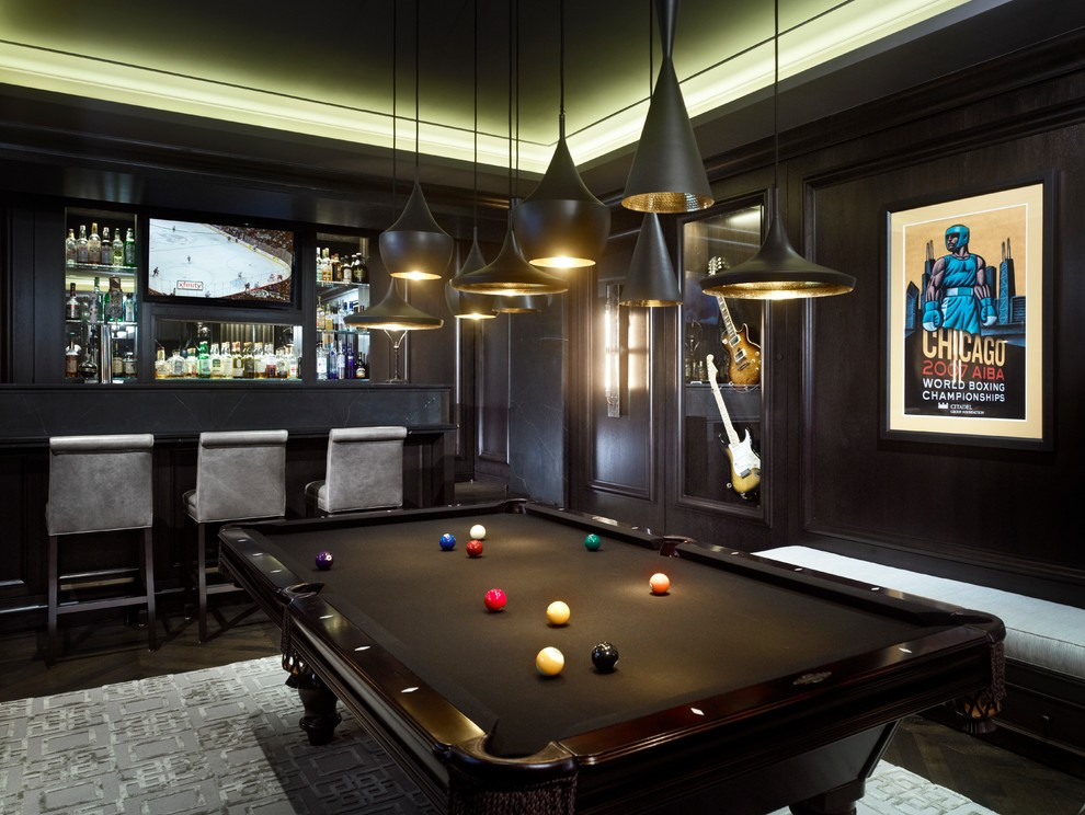 Elegant Man Cave With Minimal Lighting