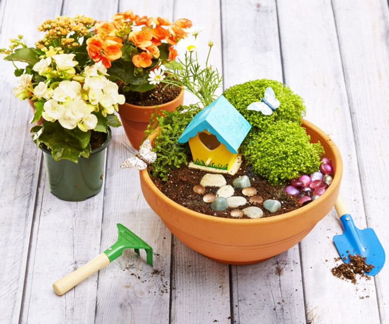 diy miniature fairy garden ideas at home