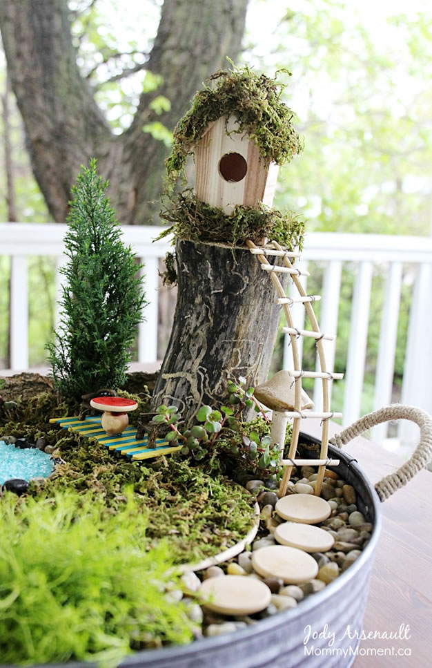 fairy garden ladder