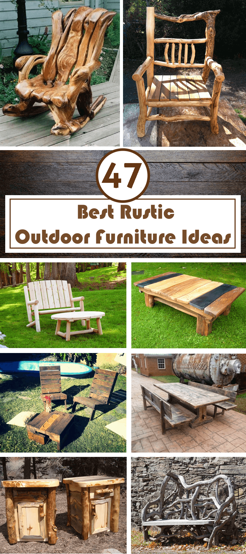 47 Best Rustic Outdoor Furniture Ideas And Designs Interiorsherpa