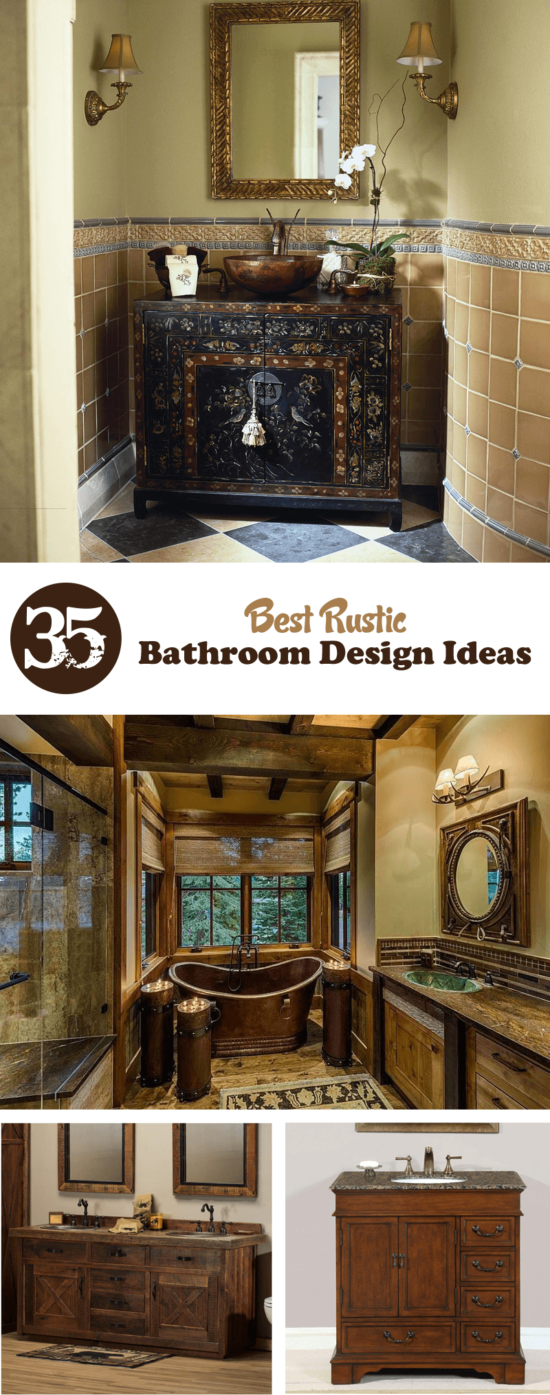 Great Ideas To Design And Decorate A Rustic Bathroom In Your Home
