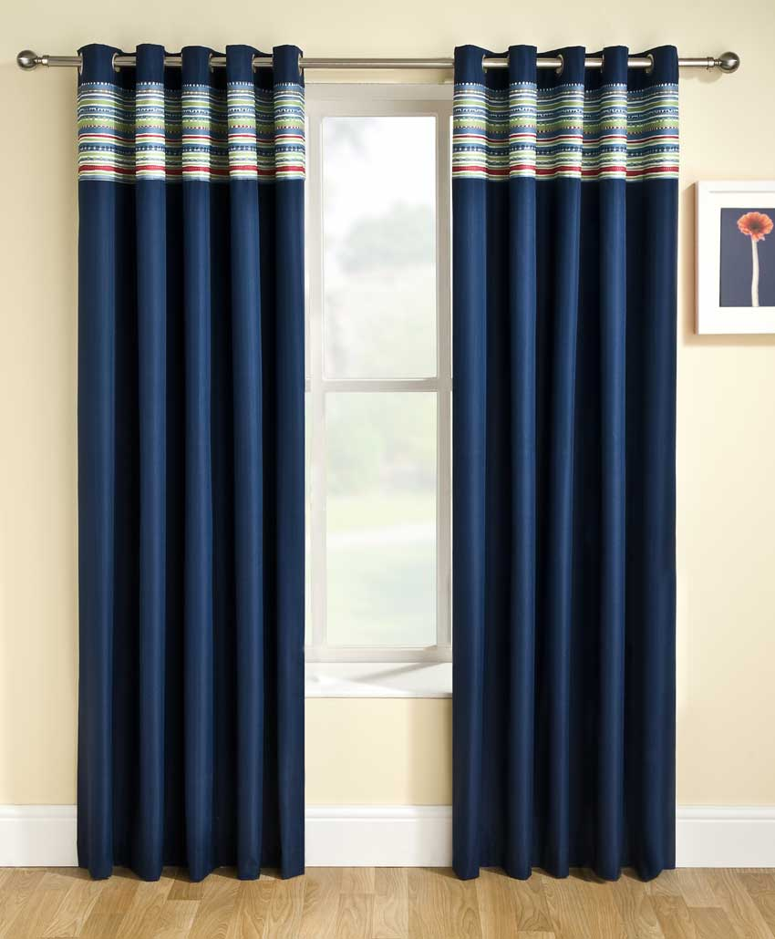 Blue Curtains Bedroom