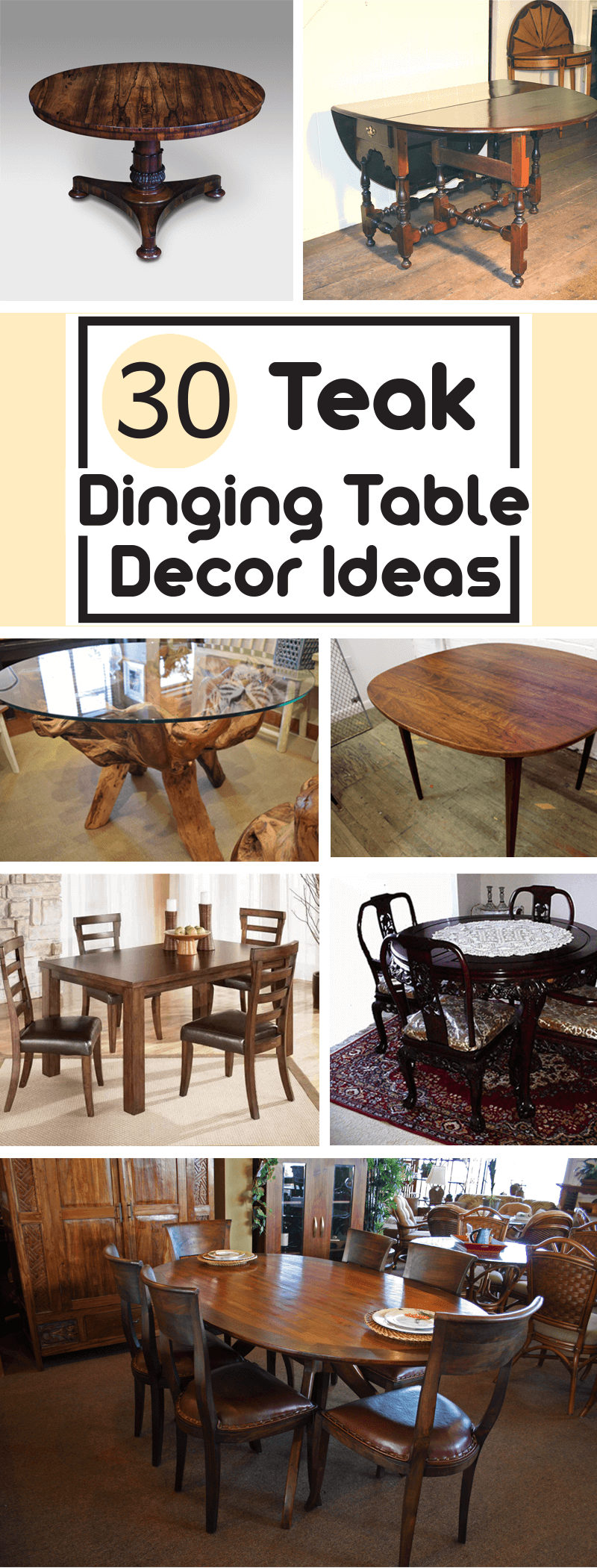 30 Trendy Teak Wood Dining Table Ideas To Impress Your Guests